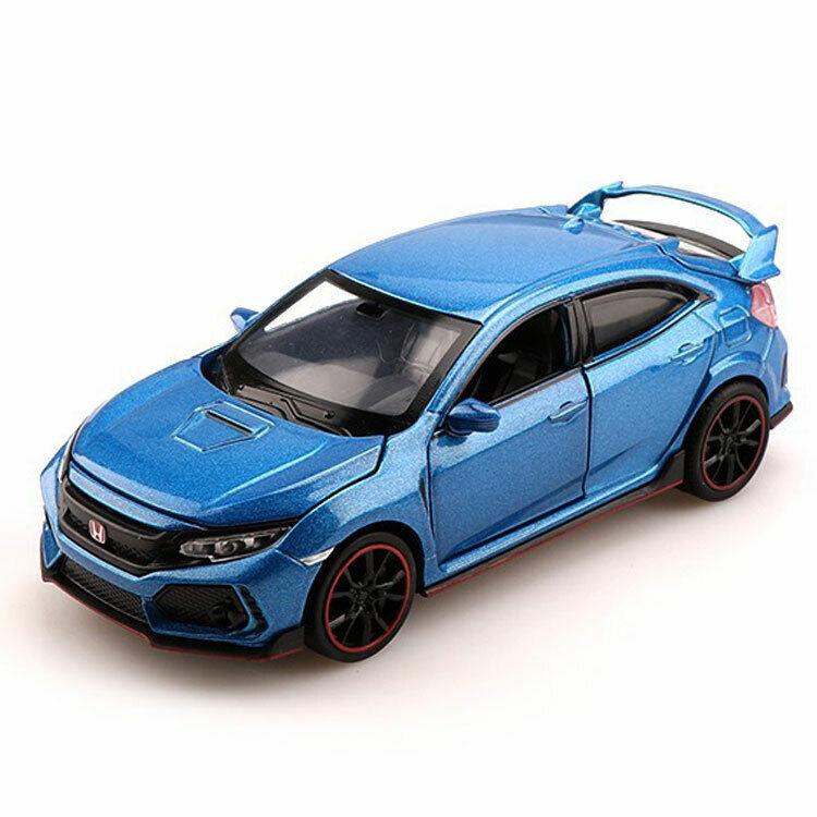 1//32 Honda Civic Type R Metall Die Cast Modellauto Spielzeug Weiß Pull Back