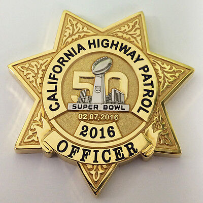 CALIFORNIA HIGHWAY HIGHWAY SUPER BOWL COIN (ELA CHP LAPD POLICE FBI)