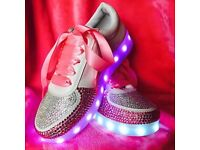 Crystal light up trainers/converse/high heels