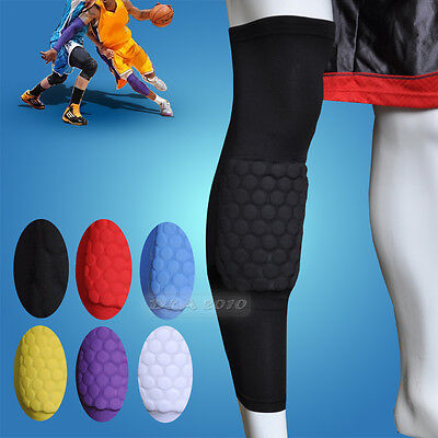 Honeycomb Pad Antishock Soccer Basketball Leg Knee Long Sleeve Protector Gear