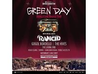 X2 Green Day Hyde Park Concert Tickets - 1st July 1pm