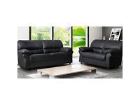 *SALE** Candy chocolate brown, black, cream or red 2+3 seater sofa set OR corner sofa