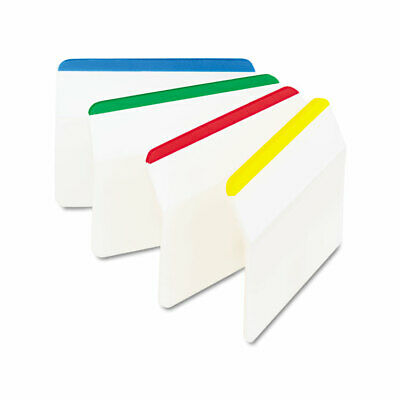 Post-it Angled Tabs 2 X 1 12 Striped Assorted Primary Colors 24pack 686a1