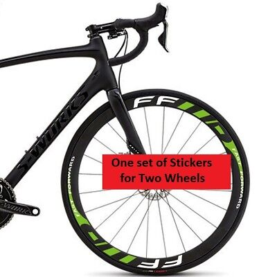 Carbon Road Bike Wheel Rim Stickers for Fast Forward FF Bicycle Race Cycle Decal