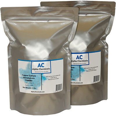 10 Pounds - Copper Sulfate Pentahydrate Powder - 99 Pure