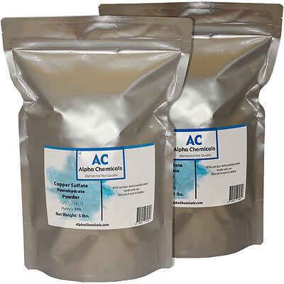 10 Pounds - Copper Sulfate Pentahydrate Powder - 99 Pure