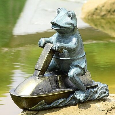 Awesome Jet Ski Frog Garden Pool Yard Statue/Sculpture,15.5'' x 12.5''H.