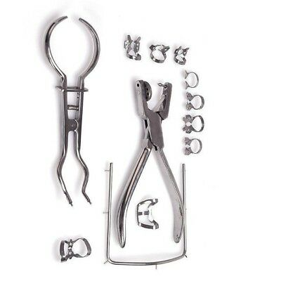 New Band Dental Dentist Basic Rubber Dam Kit Dental Surgical Instruments Set