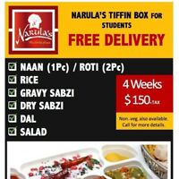 Delicious Monthly Indian Tiffin at your Doorstep