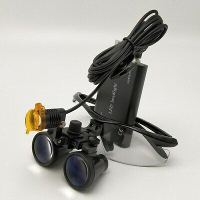Dental 3w Led Head Light With Filter 3.5x Binocular Loupes Magnifier Medical
