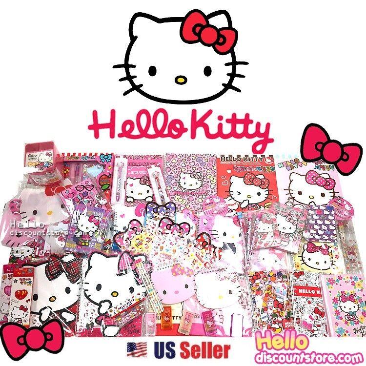 [GIFT WRAP] Sanrio Hello Kitty Assorted School Supply Stationary Gift Set 12pcs