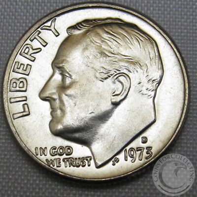 1975 D Roosevelt Uncirculated Dime ~ Raw Coin from Bank Roll