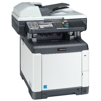 600 Dpi Printer Fax - Kyocera Ecosys M6026CIDN Color Laser Printer copy scan fax 28 ppm 9600x600 dpi
