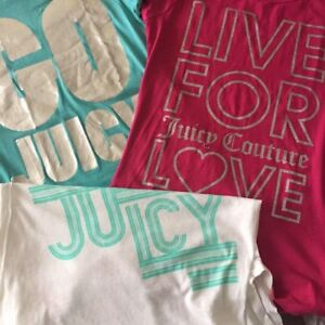 NWOT 3x Juicy Couture T-shirt Lot - Small