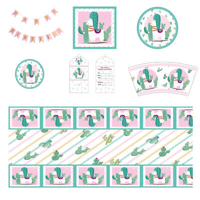 LLama Fun Alpaca Cactus Birthday Party Supplies Baby Shower Magical - Llama Birthday