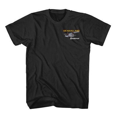 De Havilland Beaver Aircraft Aviation Black T-Shirt size S-3XL