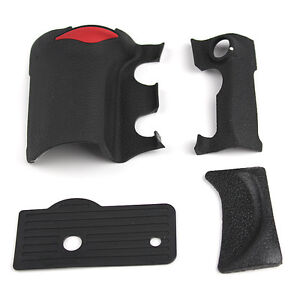 ORIGINAL-NIKON-D200-4-PIECE-GRIP-RUBBER-SET-NEW-REPAIR-PARTS