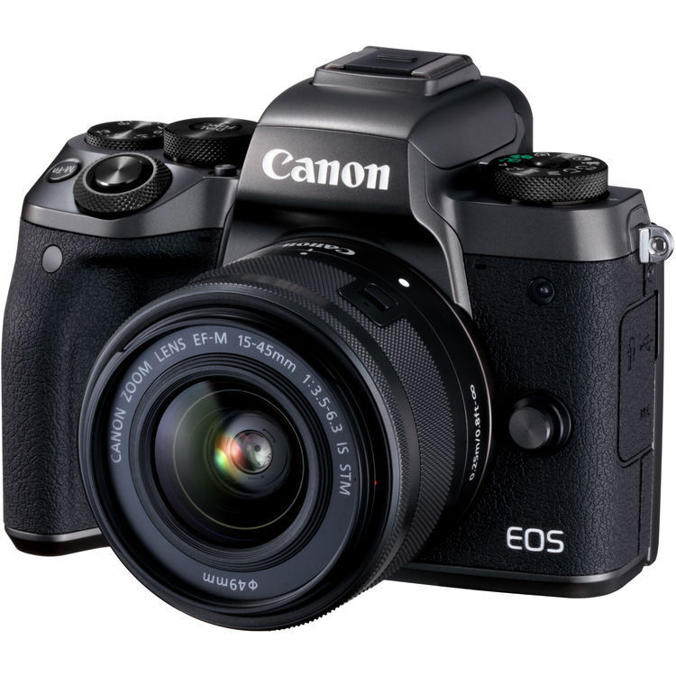 Canon EOS M5 Mirrorless Camera with EF-M 15-45mm Zoom Lens Black 1279C011