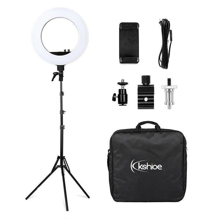 """18"""" LED Dimmable Photography Ring Light Continuous Photo Video Lighting US"""