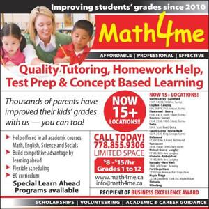 Quality tutoring @ affordable rates!