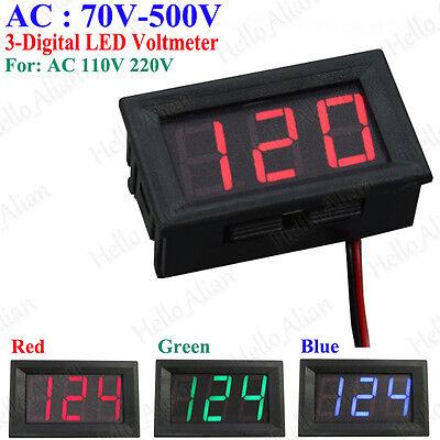 Ac Digital Led Display Voltmeter Voltage Test Meter Ac 70v-500v 110v 220v 230v