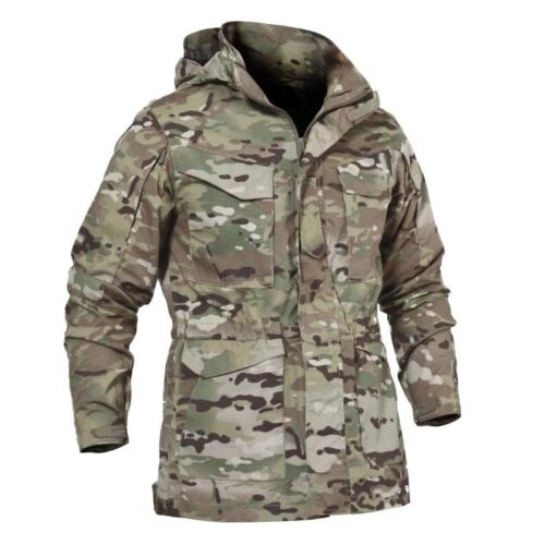 Men's Military Combat Tactical Coats Jacket M65 field WATERPROOF Casual Hoodie