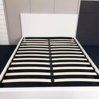 Brand New PU Leather Bed Frame White/Black Simple Style