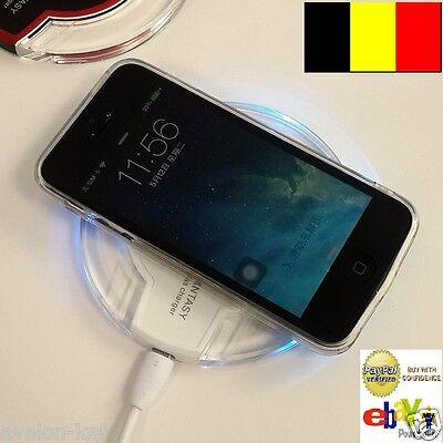 Chargeur sans fil Qi Mini Pad Pour Samsung Galaxy S6 à S10 Iphone 7 à 11 Huawai