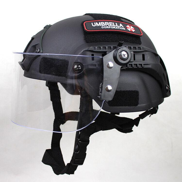 MICH2000 Tactical Action Version Helmet w/Visor Patrol CS Anti Riot Protect Mask
