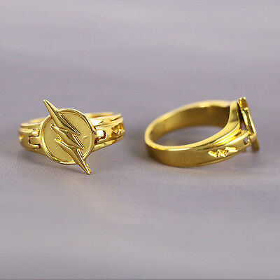 Reverse Cosplay TV Flash Ring The Flash Golden Zinc Alloy Ring Costume Props New](Cheap Halo Costume)