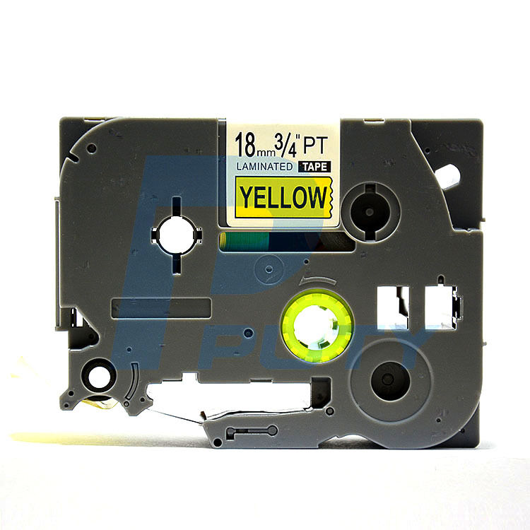 1 TZe S641 extra strong BLACK PRINT YELLOW Label Tape generic  3//4 18mm BROTHER
