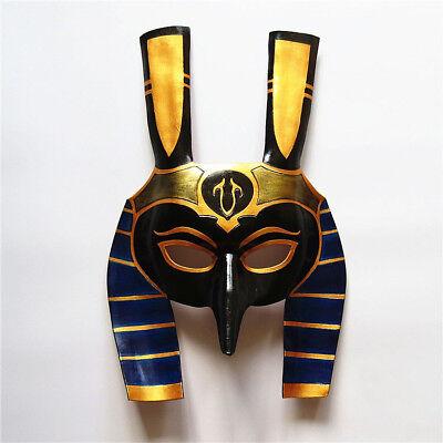 Black Gold King Tut Half Mask Costume Party Accessory Pharaoh Roman Halloween (King Tut Mask Halloween)
