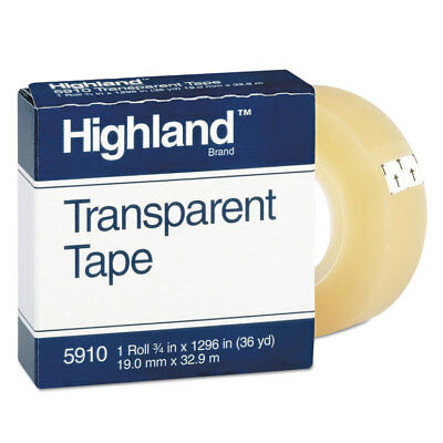 Highland Transparent Tape 34 X 1296 1 Core Clear 5910341296