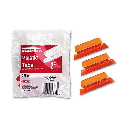 Pendaflex Hanging File Folder Tabs 15 Tab Two Inch Orange Tabwhite Insert