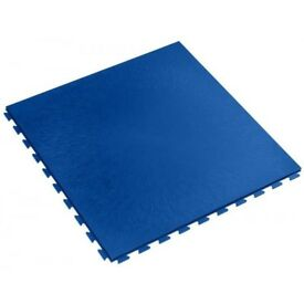 Industrial Garage Flooring Interlocking PVC Heavy Duty Click On Tile - Blue