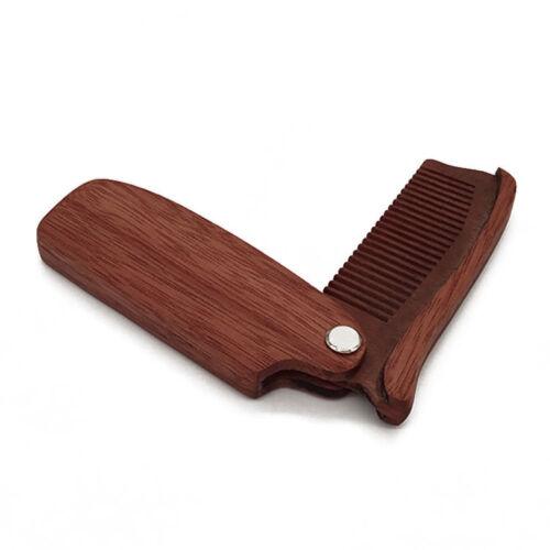 Pocket Size Moustache Comb Folding Hair Beard Comb Wood Anti