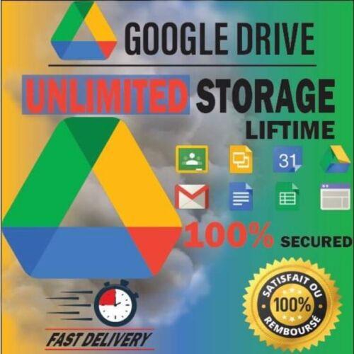 GOOGLE DRIVE 😍Unlimited Storage Unlimited 100% 🥇Original LIFETIME🎁🚀