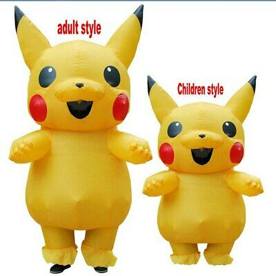 Inflatable Pikachu Costume Kids Suit Party Cosplay Funny Dress Outfit 2019