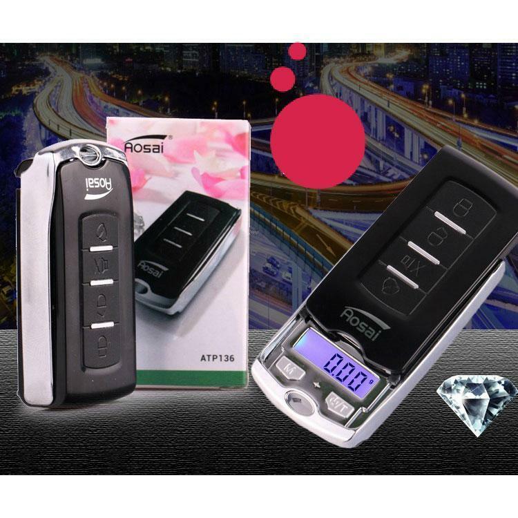 2-in-1 100g/0.01g Car Key Mini Digital Pocket Jewelry Electr
