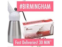 FAST CREAM CHARGERS DELIVERED IN BIRMINGHAM #SPEEDYCREAM