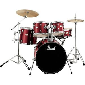 9 piece Metallic red PEARL drumset  600 OBO many extras Peterborough Peterborough Area image 1