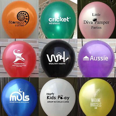 100pcs Personalised Custom Printed Balloons 12