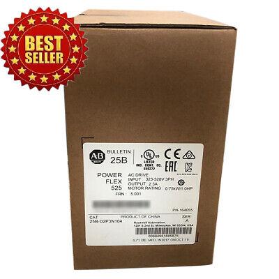 Best Allen Bradley 25b-d2p3n104 Powerflex 525 0.75kw 1hp Ac Drive Fda