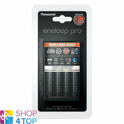 Eneloop Pro Cargador Inteligente Rápido Panasonic BQ-CC55 + 4 Aa Pilas 2500mAh