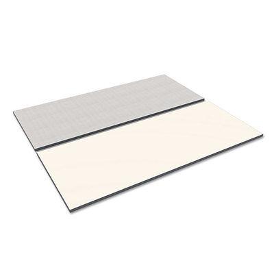 Alera Reversible Laminate Table Top Rectangular 71 12w X 29 12d Whitegray