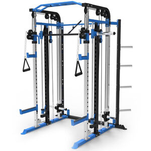 180PT Cable Crossover Functional Trainer Smith Machine Power Rack Pulley System