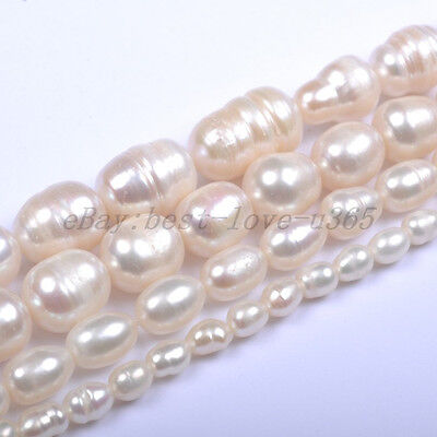 4MM 5MM 6MM 7MM 8MM 9MM 10MM Natural Freshwater White Pearl Oval Rice Beads 6 Mm White Rice