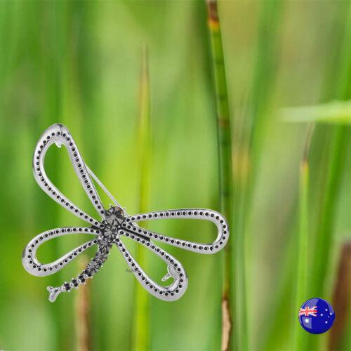 Bulk Sale 3 x Dragonfly Brooch with Crystal