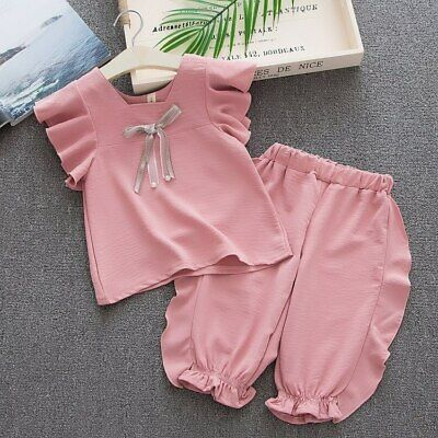 Kids Clothing SetsT-Shirt+Shorts Baby Set Fashion Toddler Girl Boutique Suits