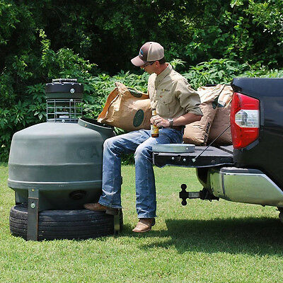 Capsule Capsule 800 Lb Feeder, Green, Holds 800lbs of feed